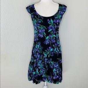 Ann Taylor Floral Flouce Skirt Dress